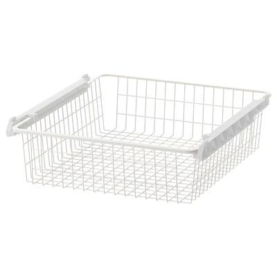 STUVA GRUNDLIG Wire basket, white, 60x49x13 cm