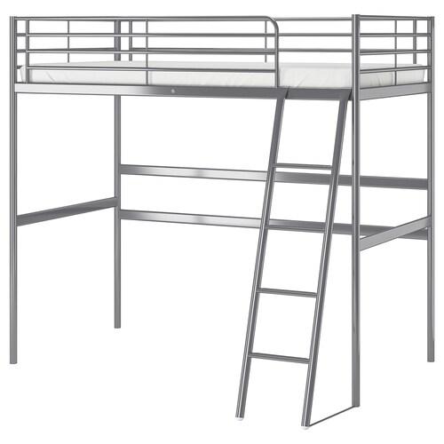 SVÄRTA loft bed frame silver-colour 208 cm 145 cm 97 cm 186 cm 100 kg 200 cm 90 cm 21 cm