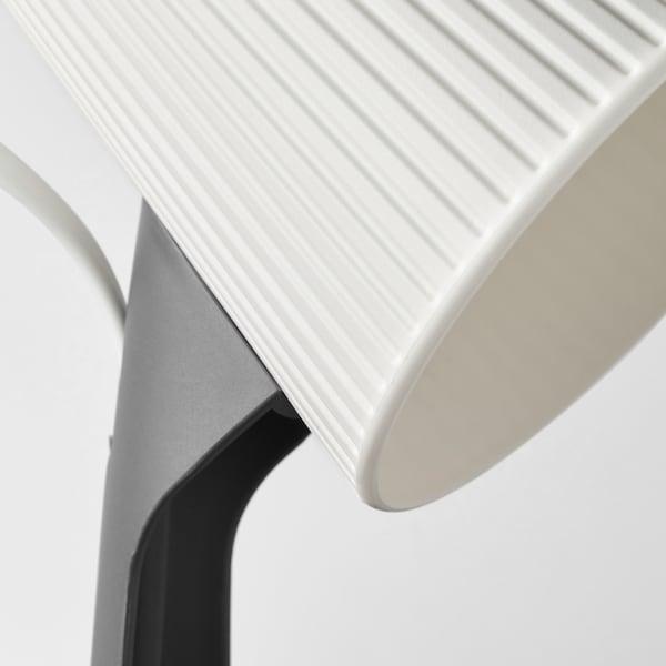 SVALLET Work lamp, dark grey/white