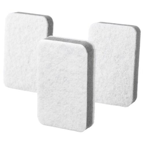 SVAMPIG sponge grey-white 11 cm 7 cm 3 pieces