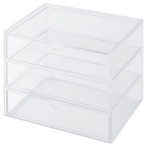 SVASP storage box with 3 drawers 17 cm 13 cm 14.7 cm