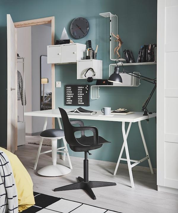 SVENSÅS Pegboard with letters, dark grey, 30x40 cm