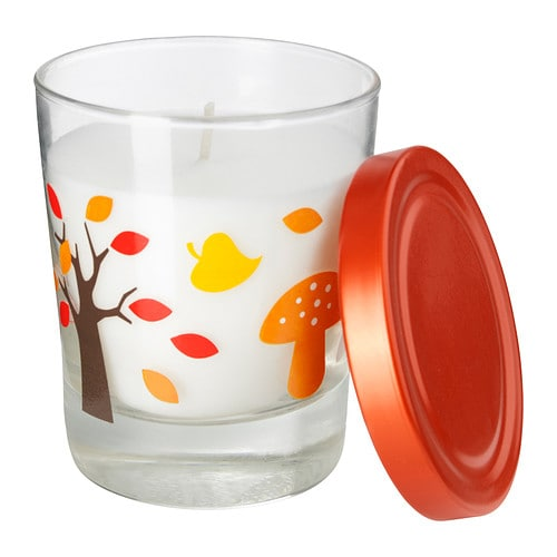 TIMGLAS Scented candle in glass   Easy to extinguish the candle by putting on the lid; that keeps the scent inside too.