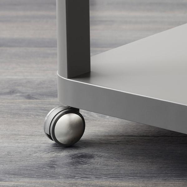 TINGBY side table on castors grey 50 cm 50 cm 45 cm