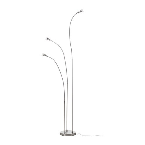 TIVED LED floor lamp   Flexible arm; makes it easy to direct the light according to need.