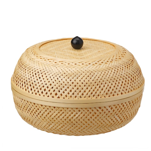 TJILLEVIPS basket bamboo 21 cm 32 cm