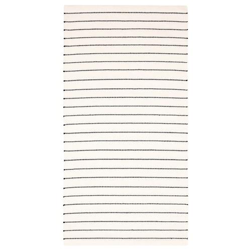 TÖRSLEV rug, flatwoven stripe white/black 150 cm 80 cm 1.20 m² 1900 g/m²