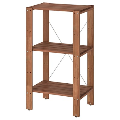 TORDH Shelving unit, outdoor, brown stained, 70x35x90 cm