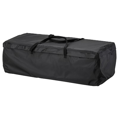 TOSTERÖ Storage bag for cushions, black, 116x49 cm