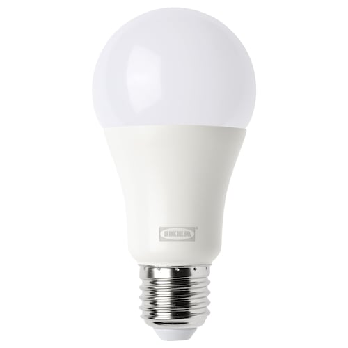TRÅDFRI LED bulb E27 1000 lumen wireless dimmable warm white/globe opal white 1000 lm 2700 K 2700 K 60 mm