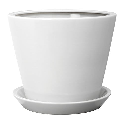 TROSSÖ Plant pot with saucer