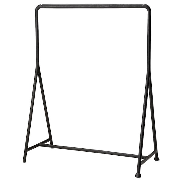 TURBO Clothes rack, in/outdoor/black, 117x59 cm