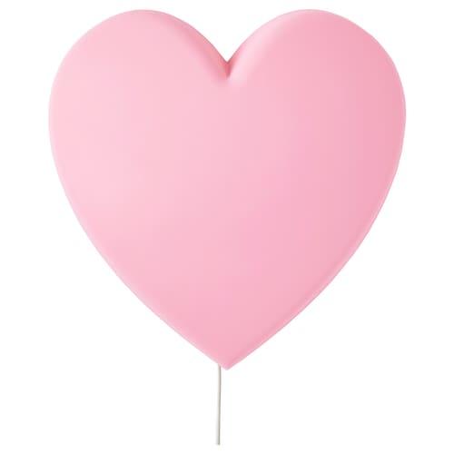 UPPLYST LED wall lamp heart pink 110 lm 27 cm 8 cm 27 cm 2.0 m 1.6 W