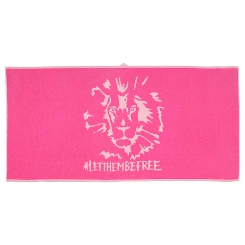 URSKOG bath towel lion/pink 140 cm 70 cm