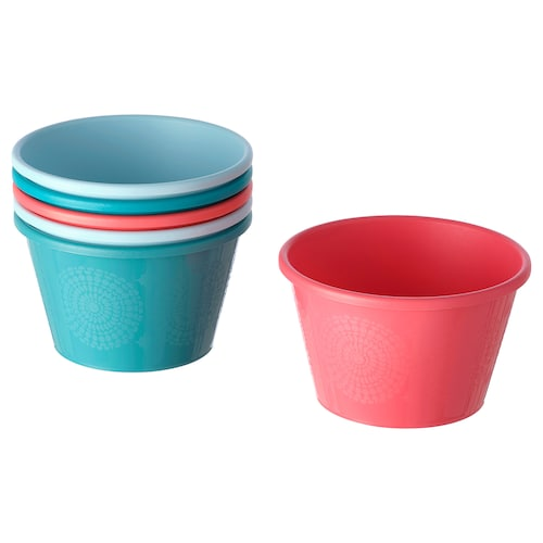 UTEFEST bowl mixed colours 8 cm 13 cm 6 pieces