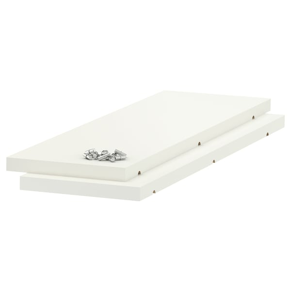 UTRUSTA Shelf, white, 20x60 cm