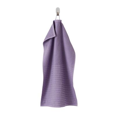 VÅGSJÖN Hand towel, purple, 40x70 cm