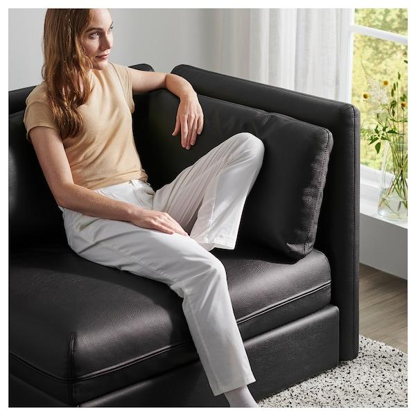 VALLENTUNA Modular corner sofa, 3-seat, with storage/Murum black