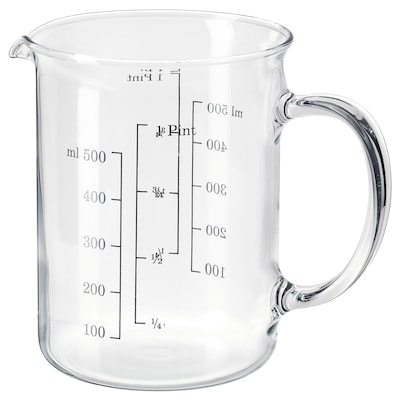 VARDAGEN Measuring jug, glass, 0.5 l