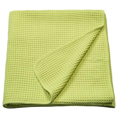 VÅRELD Bedspread, light green, 230x250 cm