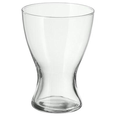 VASEN Vase, clear glass, 20 cm