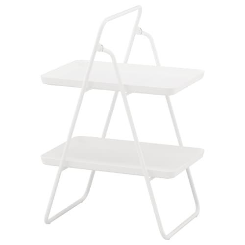 VIGGJA tray stand white 37 cm 50 cm 74 cm