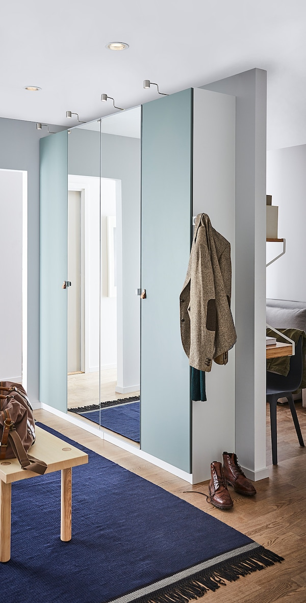 VIKEDAL Door, mirror glass, 50x229 cm