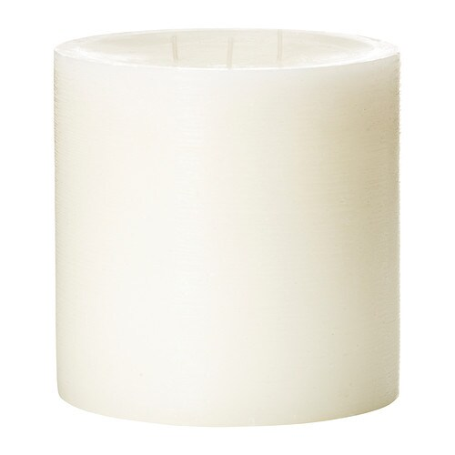 VILLIG Scented candle with 3 wicks   A soft scent of flowers and musk create a romantic atmosphere.