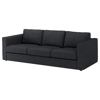 VIMLE 3-seat sofa, Tallmyra black/grey