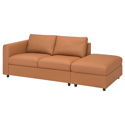 VIMLE 3-seat sofa, with open end/Grann/Bomstad golden-brown
