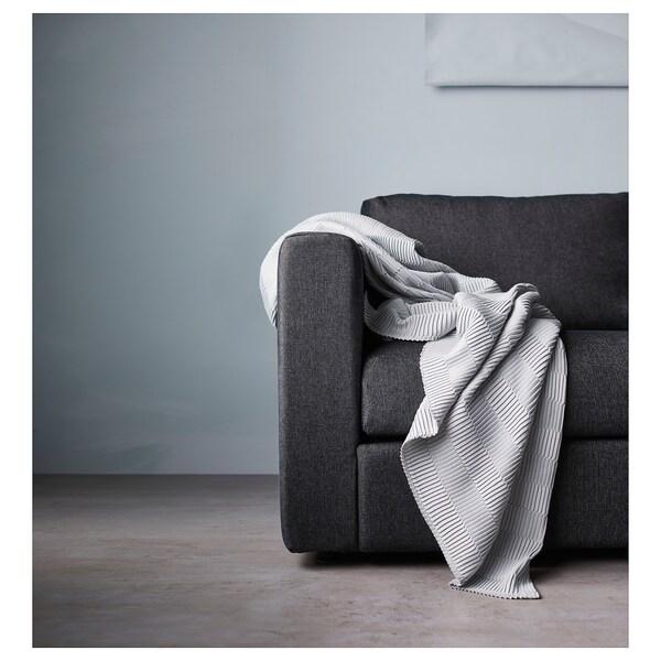 VIMLE U-shaped sofa, 6 seat, with open end/Tallmyra black/grey