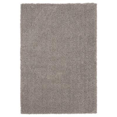 VINDEBÄK Rug, high pile, light beige, 133x195 cm