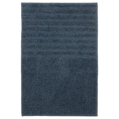 VINNFAR Bath mat, dark blue, 40x60 cm