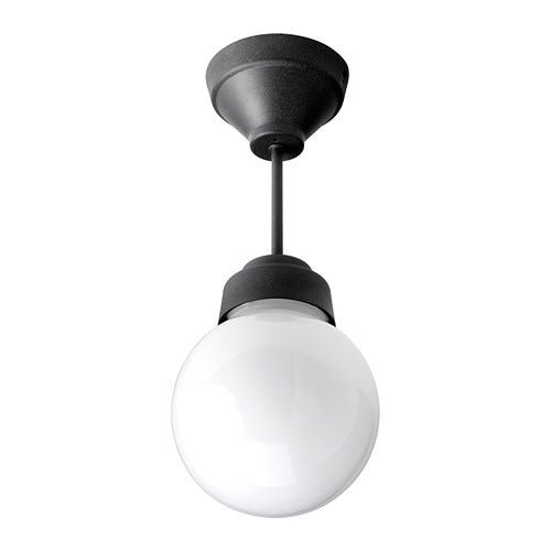 VITEMÖLLA Ceiling lamp   Gives a diffused light; good for spreading light into larger areas of a bathroom.