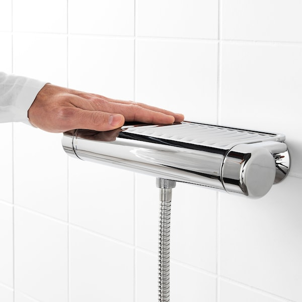 VOXNAN Thermostatic shower mixer, chrome-plated, 150 mm