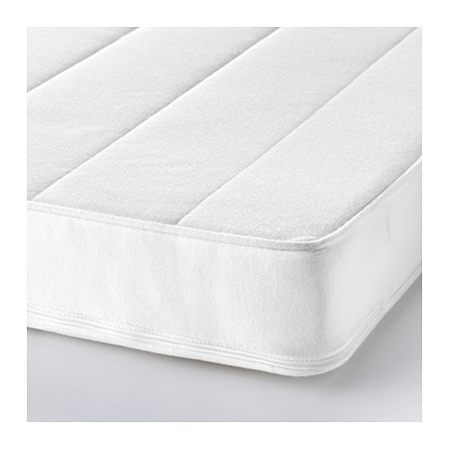 VYSSA SKÖNT Mattress for cot   Pressure-relieving cold foam gives good comfort for your baby.