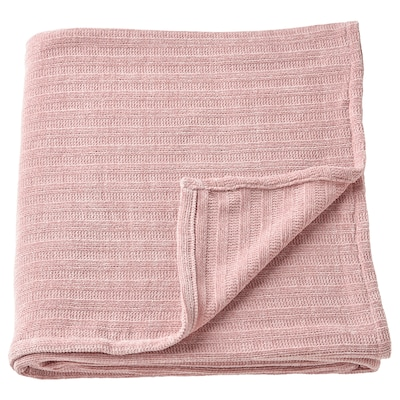 YLVALI Throw, light pink, 130x170 cm