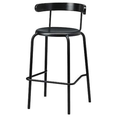 YNGVAR Bar stool, anthracite, 75 cm