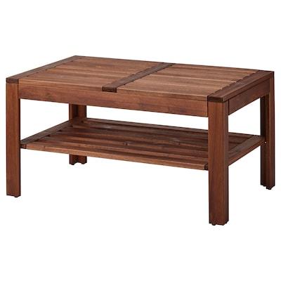 ÄPPLARÖ แอ็ปปลาเรอ โต๊ะกลาง กลางแจ้ง, ย้อมสีน้ำตาล, 90x55 ซม.