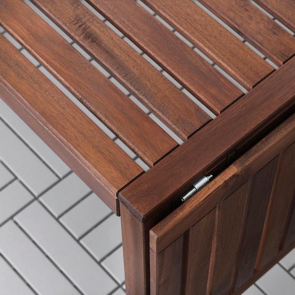 ÄPPLARÖ แอ็ปปลาเรอ / HÖGSTEN เฮิกสเตียน โต๊ะ+เก้าอี้มีแขน6ตัว กลางแจ้ง, ย้อมสีน้ำตาล/ขาว