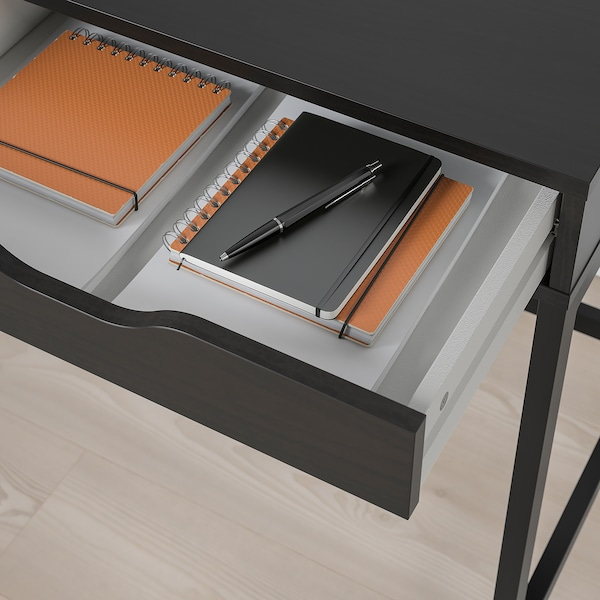 ALEX อเล็กซ์ โต๊ะทำงาน, น้ำตาลดำ, 132x58 ซม.
