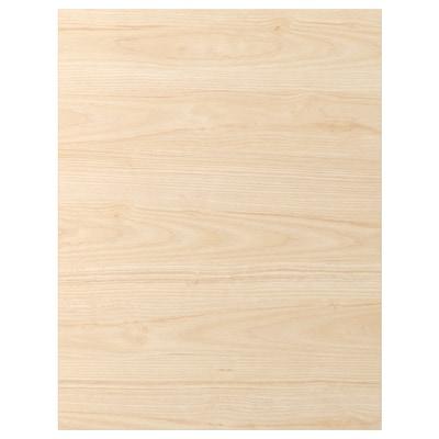 ASKERSUND อัสเคอร์ชุนด์ แผ่นปิดข้างตู้ครัว, ลายไลท์แอช, 62x80 ซม.