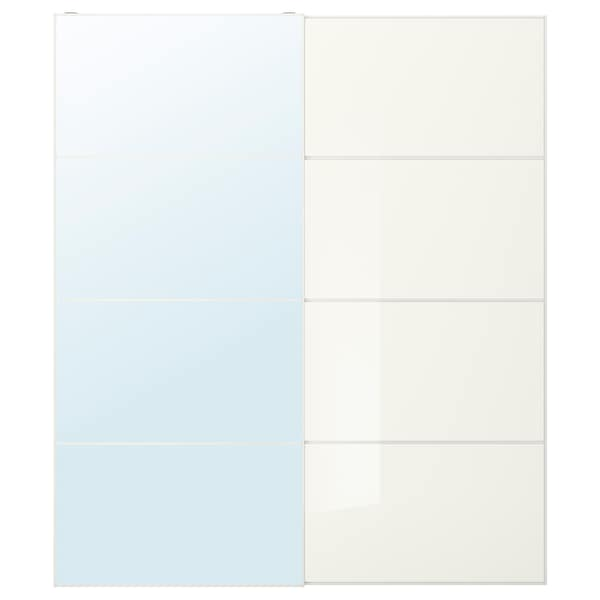 ออลิ / แฟร์วีค บานเลื่อนคู่ กระจก/กระจกขาว 200 ซม. 236 ซม. 8.0 ซม. 2.3 ซม.