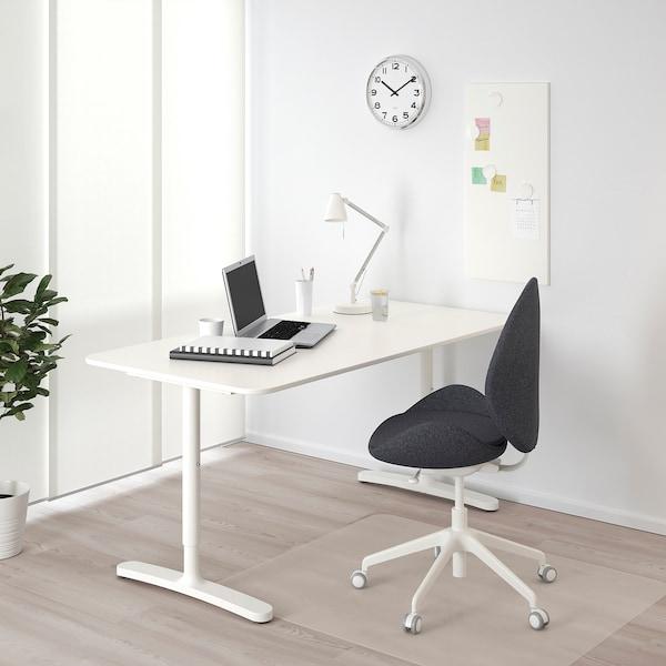 BEKANT บีแคนท์ โต๊ะทำงาน, ขาว, 160x80 ซม.