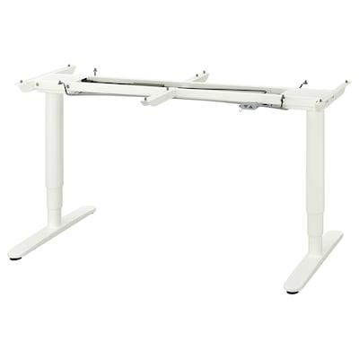 BEKANT บีแคนท์ โครงขาโต๊ะปรับยืนนั่ง, ขาว, 160x80 ซม.