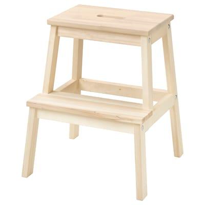 BEKVÄM เบียแควม เก้าอี้ 2 ขั้น, ไม้แอสเพน, 50 ซม.