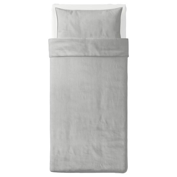 แบริพาล์ม ปลอกผ้านวมและปลอกหมอน, เทา/ลายทาง, 150x200/50x80 ซม.