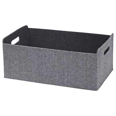 BESTÅ เบสตัว กล่องใส่ของ, เทา, 32x51x21 ซม.