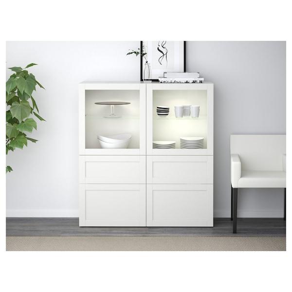 BESTÅ เบสตัว โครงตู้, ขาว, 60x40x128 ซม.