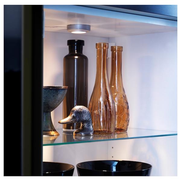 BESTÅ เบสตัว ชั้นวางกระจก, แก้ว, 56x36 ซม.